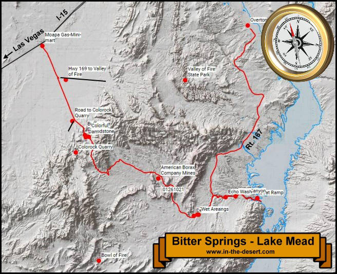 Bitter Springs Topography Map
