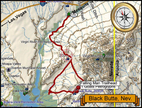 Black Butte Topography Map