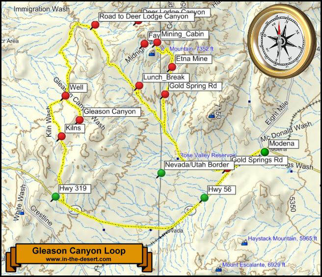 Gleason Canyon Topography Map