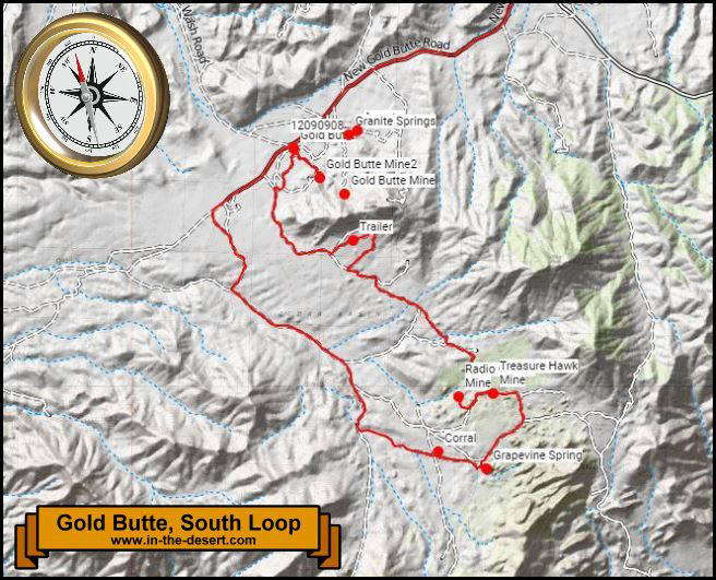 Gold Butte South Loop Map