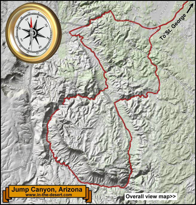 Jump Canyon Topography Map