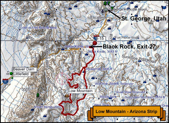 Low Mountain Topography Map