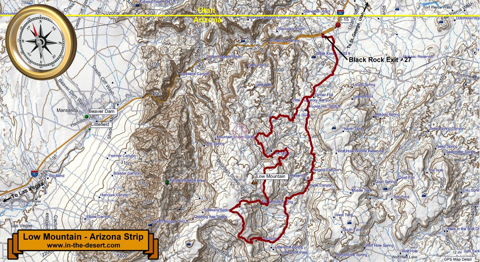Map Of Arizona Strip.Interesting Trip In The Desert To The Arizona Strip