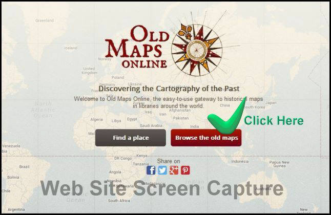 Old Maps Online Screen Capture