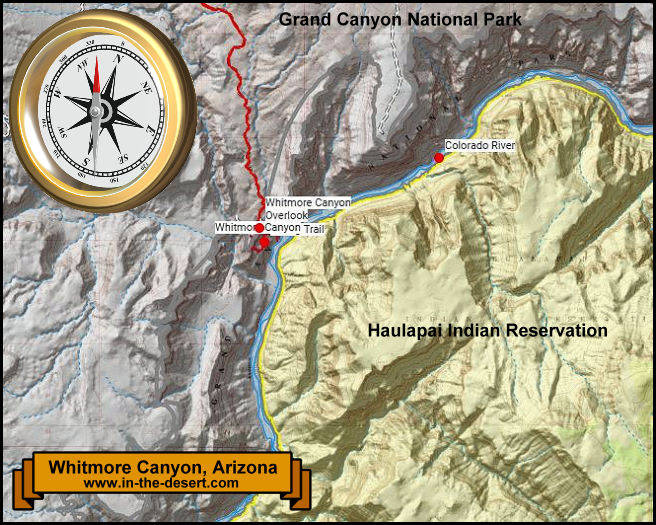 Whitmore Canyon Topography Map