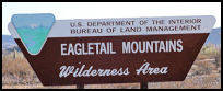 Eagletail Wilderness BLM Sign