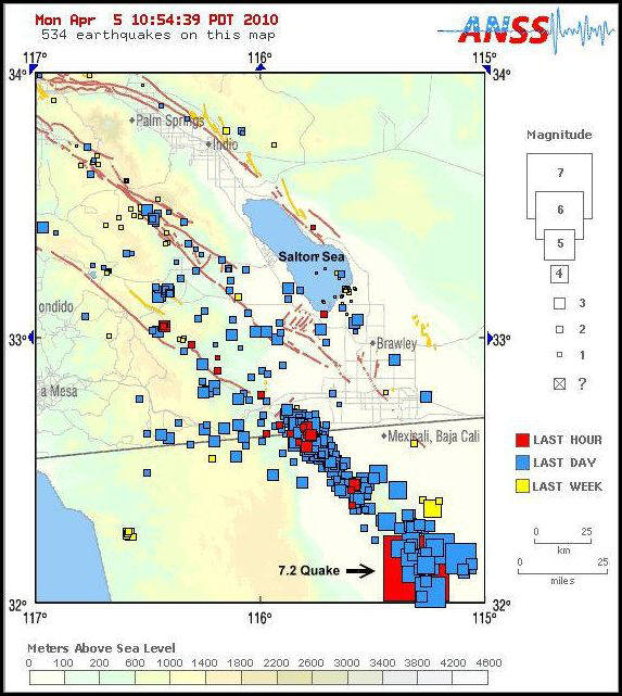 Map Of Arizona Fault Lines.Earthquakes And Fault Lines In The Desert Southwest And How They