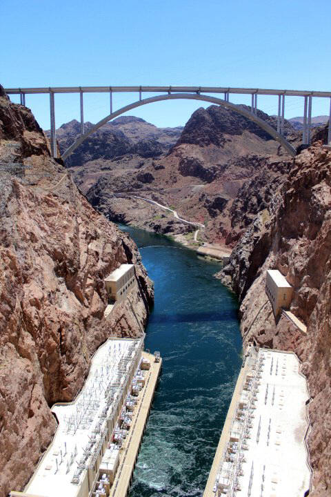 New Rt. 93 bypass bridge at the Hoover Dam