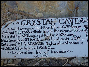 Crystal Cave Sign