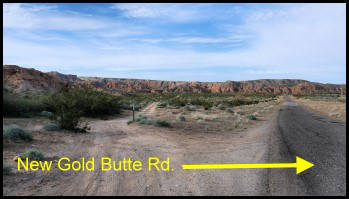 New Gold Butte Road