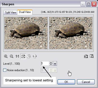 Sharpening Software