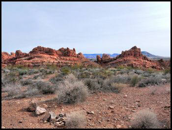 Red Navajo Sandstone formations