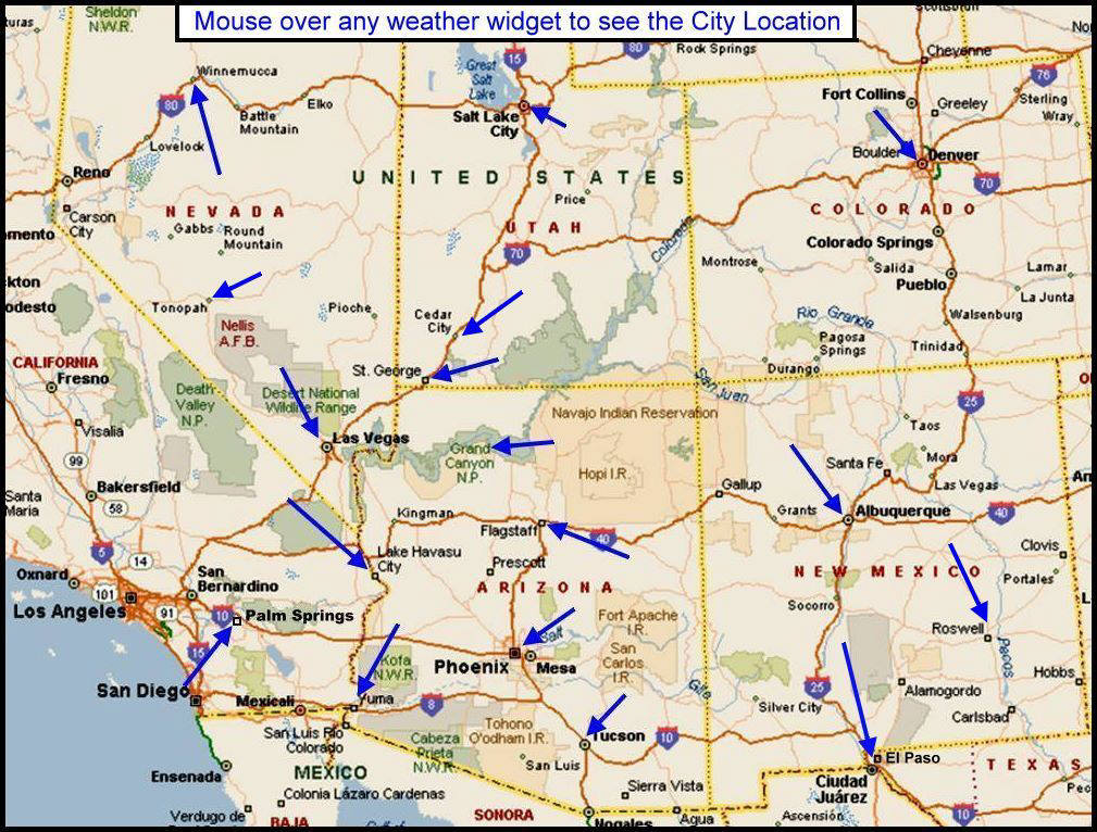 Map Of Nevada And Utah Weather, In the Desert. California, Nevada, Utah, Arizona  Map Of Nevada And Utah